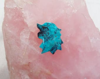 Blue Bisbee Turquoise Direwolf Small Cabochon/ backed