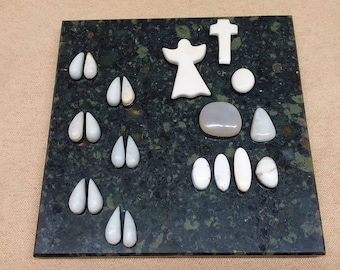 65% OFF Assorted White Marble & Magnesite Cabochons/ angel/ cross/ ovals/deer tracks/ seconds