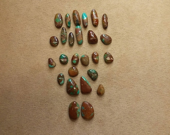 55% OFF 25 piece Freeform Oval Turquoise Cabochon Set/ backed/ seconds