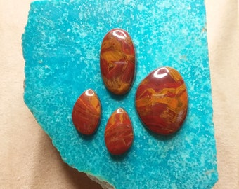 Red Blood Onyx Oval Cabochons/ backed