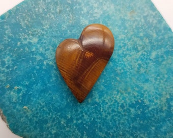 Blood Red Onyx & Brown Medium Heart Cabochon/ backed