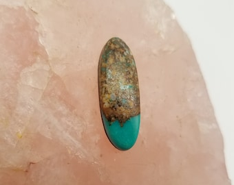 Blue Green Pilot Mountain Long Oval Cabochon/ backed