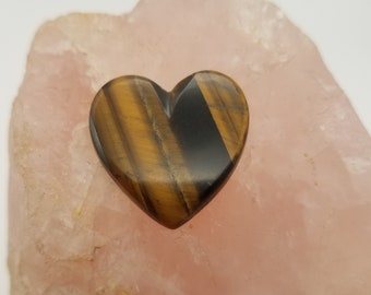 Golden Tigers Eye Large Heart Cabochon without backing