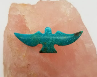 Blue Sonora Turquoise Medium Flying Eagle Cabochon/ backed