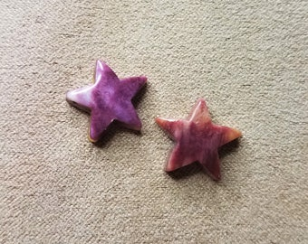 Purple Spiny Oyster Shell Small Star Pair/ backed