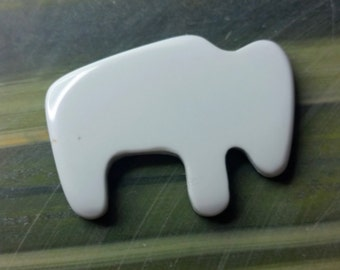 Large White Magnesite Buffalo Cabochon/ backed