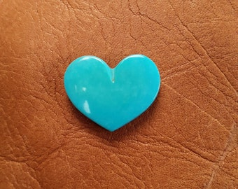 Blue Sleeping Beauty Turquoise Medium Heart Cabochon/ backed
