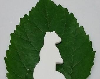 White Magnesite Standing Bear Cabochon