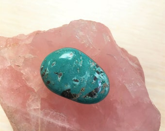Blue Green Freeform Fox Turquoise Oval Cabochon/ backed