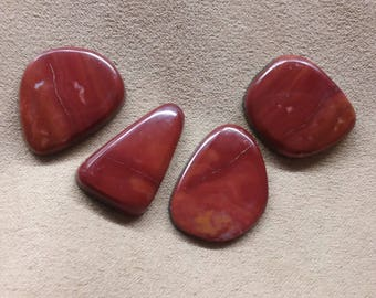 50% Off Large Red Rhyolite Freeform Oval Cabochons/ backed/ seconds