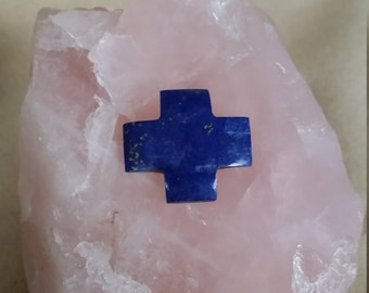 Dark Blue Lapis Lazuli Gothic Cross Medium Cabochon/backed