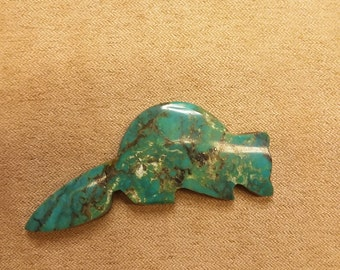 75% OFF Large Turquoise Raccoon Cabochon/ backed/ seconds