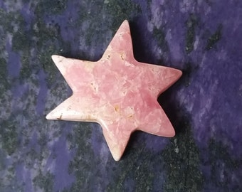 Pink Rhodocrosite Starburst Cabochon/ backed
