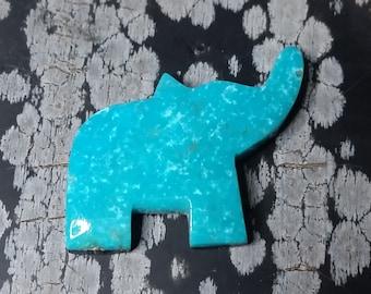 Sonora Blue Turquoise Elephant Cabochon/ backed