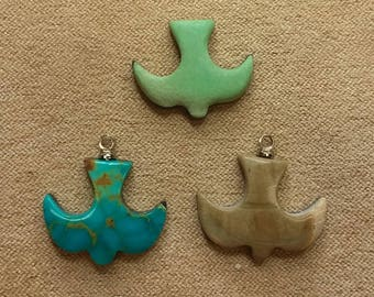 60% OFF Assorted Doves Cabochons/Varisite/Turquoise/Picasso Marble/ backed/ seconds
