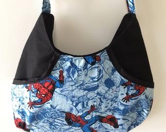 Marvel Spiderman inspired hobo shoulder bag.