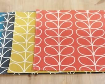 Orla Kiely Linear Stem Fabric Placemats Seven Colours  Free P&P