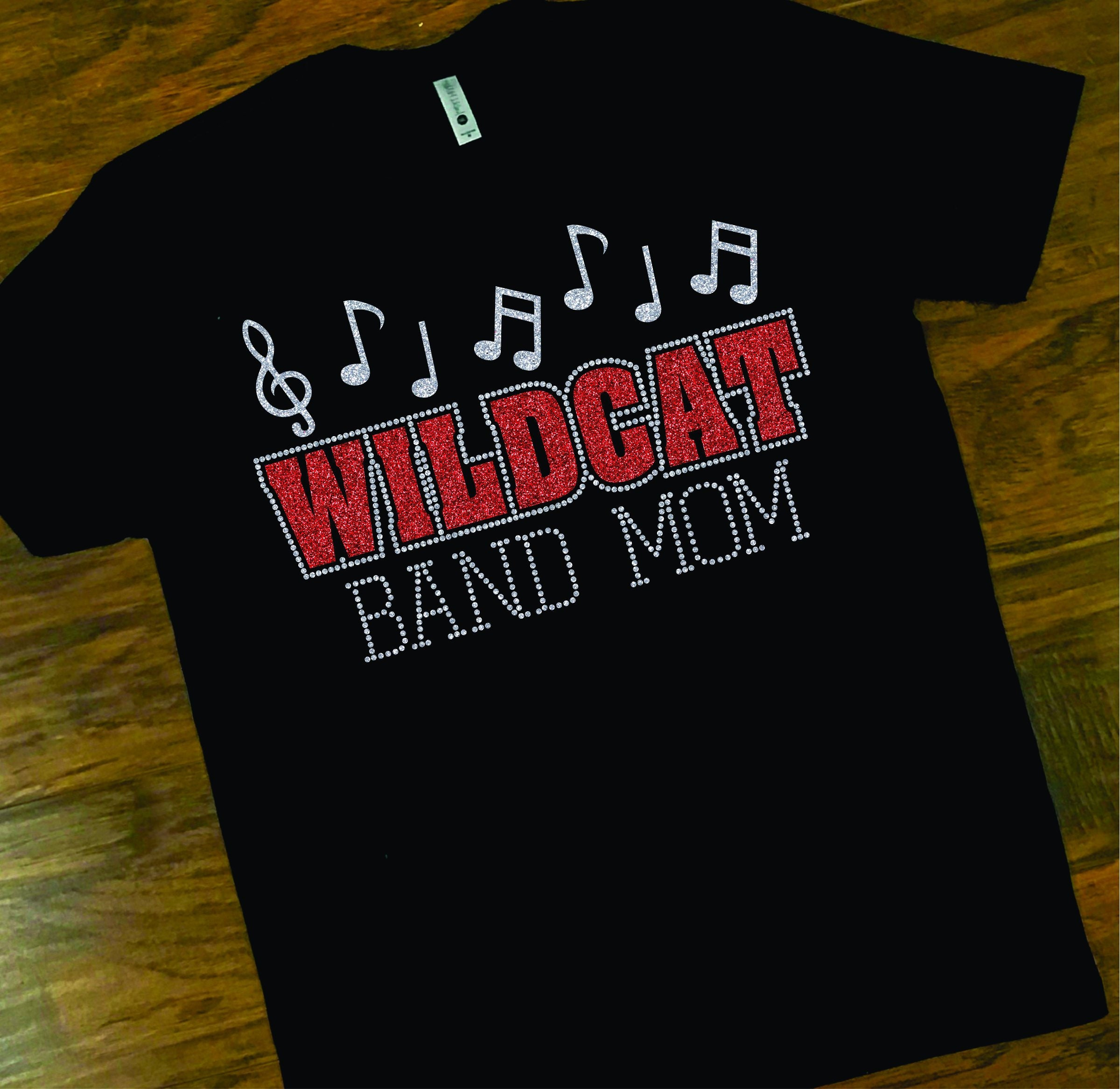 Wildcat Band Mom Shirt Custom Glitter Band Mom Tee School Etsy