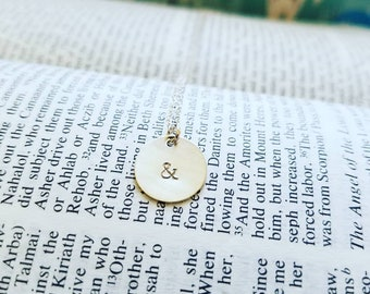 Ampersand Necklace, Both/And, & Jewelry, Symbol Jewelry, Minimalist Jewelry, Mother's Day Gift, Inspiration Jewelry, Christian Jewelry, Hope