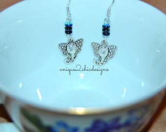 Elephant Earrings, Elephant Jewelry, African Earrings, Animal Lover Earrings, Wild Animal Earrings, African Jewelry, Safari Earrings
