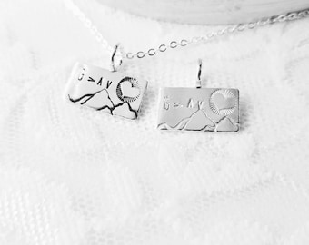 Christian Jewelry, God Is Greater, Highs And Lows, Mountain Jewelry, Inspiration Necklace, God Is Greater Than The Highs And Lows, Sterling