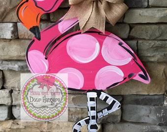 summer door hanger, summer wreath, summer door sign, flamingo, Doorhanger, flamingo decor, door hangers