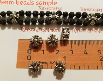 14mm x 8mm Sterling Silver Beads Two Hole Cord Spacer Bar 2 pc. 925 Large Hole Spacer Bead