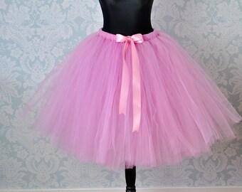 Blush Pink Tutu, Adult Tutu,Tulle Skirt, Bridesmaid Tutu, Wedding Tutu, Girls Tutu, Teen Tutu, Long Tutu, Tutu Dress, Wedding Dress,Tutu