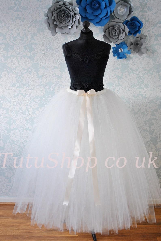 Adult Plus Size Tutu, Plus Size Tulle Skirt, Wedding Skirt, Bridesmaid  Dress, Bridesmaid Tutu, Wedding Dress, Prom Tutu, Long Adult Tutu