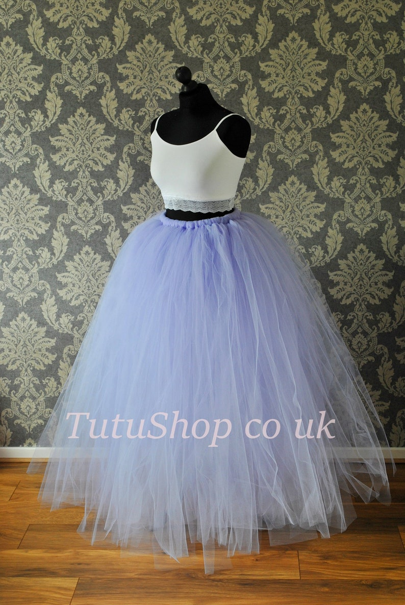 b8937bcf6 Long Adult Tulle Skirt Bridesmaid Tutu Skirt Women's | Etsy