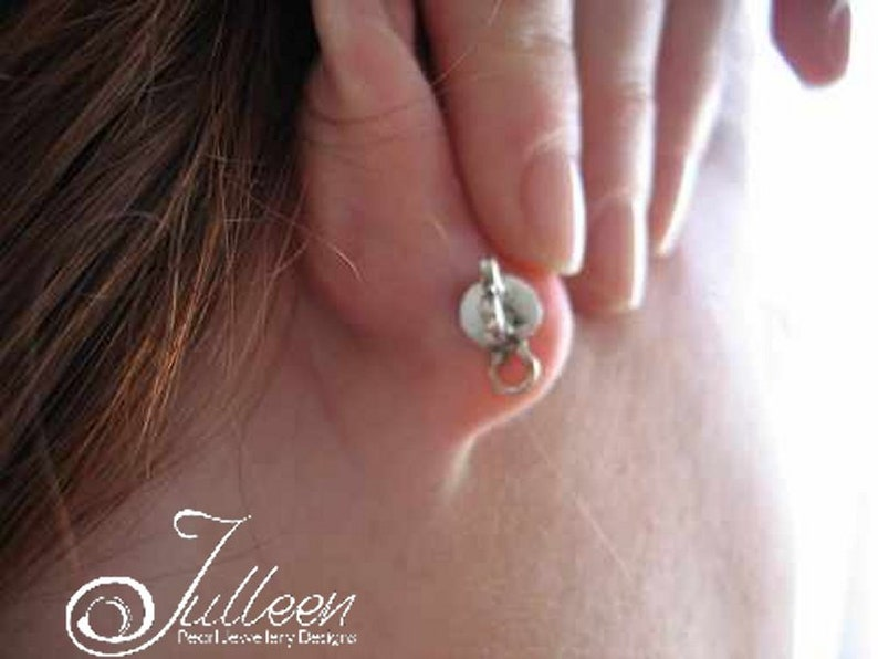 Droopy Lobe Prop Up Earring Backs. Sterling Silver 925 Ball image 0