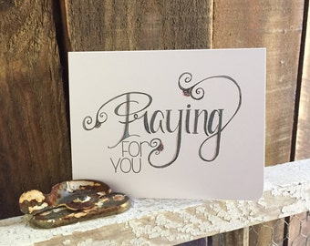 Praying For You | Greeting Cards by Doodle Noshings (FLAT or FOLDED)
