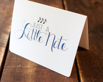 Just a Little Note   Greeting Cards by Doodle Noshings (FLAT or FOLDED)