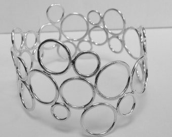 Sterling silver circles bangle