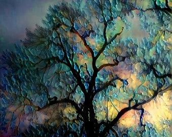 Abstract Tree Art Etsy