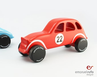 Wood Toy, Wooden Toy Car, Wooden Car for kids, boys, Classic Car, CL 10, Inspired by the Classic French car, 2CV