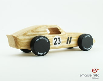 Wooden Toy Car, Natural Ash Wood, Wooden Car for kids, boys, Classic Race Car, CL 01 Inspired by the Ferrari 250GTO