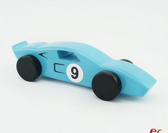 Wood Toy Car, Wooden Car for kids, boys, Classic Race Car, CL 02, Inspired by the Classic Ford Gt40