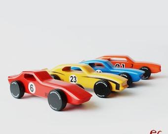 Handmade Wood Toy Car Gift Set