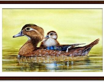cachepot bird figurine Realistic Mallard Hen duck planter marsh ducks waterfowl men/'s valet