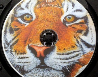 Learn to Paint a Tiger in Realistic Watercolour, Tiger Painting Video, Watercolor Lesson on DVD