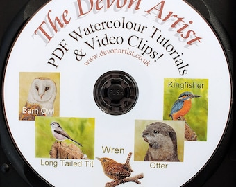 5 Watercolor Painting Lessons, Realistic Watercolour Wildlife Illustration Tutorials, Disc 3