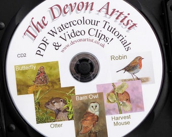 Learn to Paint Birds & Animals in Realistic Watercolor, Watercolour Painting Lessons, Disc 2