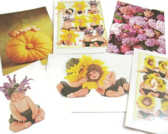 6 Vintage Anne Geddes Blank Note Cards - Set #2