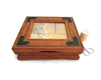 Hinged Sewing Box - Vintage Sewing