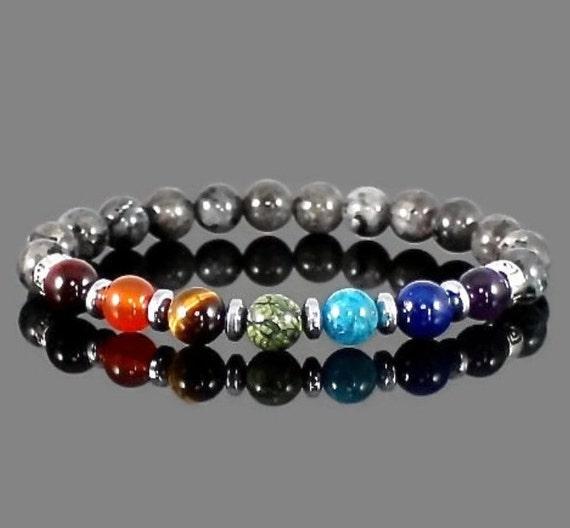 Chakra bracelet 7 chakra bracelet men bracelet Chakra bead bracelet Meditation bracelet Stones bracelet Black buddha bracelet Chakra gifts