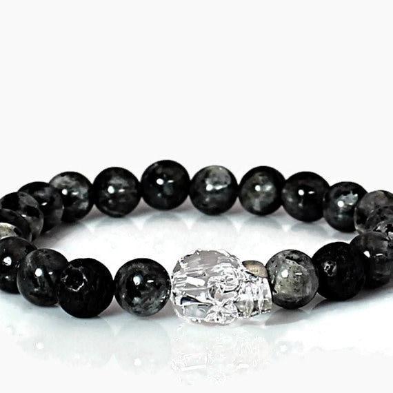 Pulseras Joyería Para Hombre Homme Femme 8mm Skull Bracelet