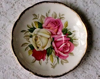 Queen Anne Lady Sylvia Fine Bone China Saucer - Made in England