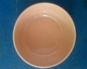 1930s - 1940s Medalta Potteries Yellow Ware Stoneware Mixing Bowl - Made in Medicine Hat Alberta Canada