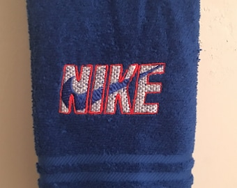 Embroidered ~NIKE inspired~ Kitchen Bath Hand Towel